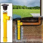 Le puit d'infiltration avec raccord / drainage collecte l'eau de pluie, en cas de non raccordement au tout-à-l'égout.