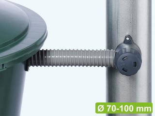 Le collecteur d'eau Rapido est livré complet avec connexion et tuyau pour le récupérateur d'eau.