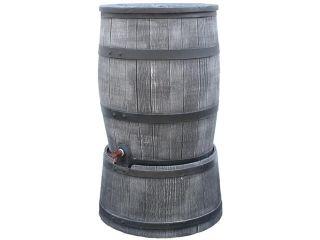 Récupérateur d'eau en PVC Roto anthracite 120 litres sur socle.