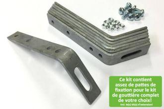 Ce kit contient assez de pattes de fixation pour le kit de gouttière (zinc) complet de votre choix! Incl. le(s) kit(s) d'extension!